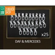 Gardinen Haken für Mercedes & DAF