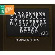 Gardinen Haken für SCANIA 4 SERIES